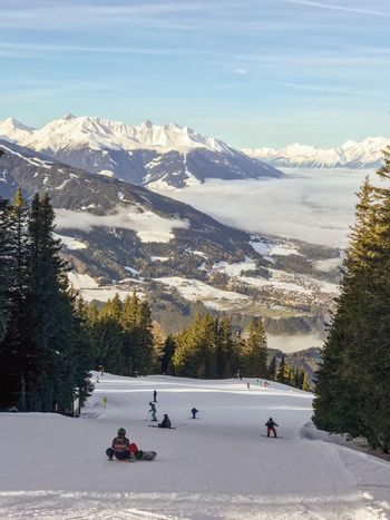 Outdoors Alps Snowboarding Piste Fir Tree Athlete Innsbruck Tyrol Australia Snow Winter Cold Temperature Mountain Real People Nature Leisure Activity Scenics Beauty In Nature Tree Mountain Range Ski Holiday Skiing Snowcapped Mountain Lifestyles Winter Sport Landscape Cloud - Sky Day Sky