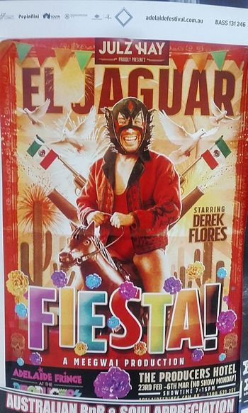 El Jaguar Fiesta FIESTA! Derek Flores Posterart Poster Posters Poster Art Poster Color Poster! Poster Wall Meegwai Poster Collection Posterporn Posterwall Adelaide Fringe Postercollection Meegwai Production Julz Hay Wall Poster Color Posters Posterdesign Advertisingposters Colour Posters Advertising Poster