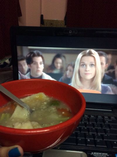 Wanton soup and elle woods equals to a comfy winter night Relaxing Food Porn Legally Blonde Movies