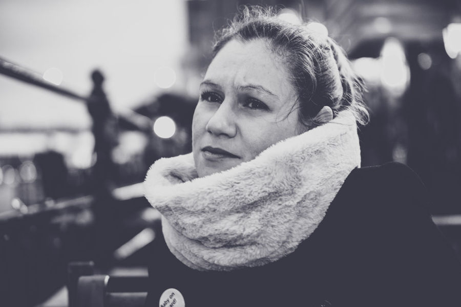 Adult Black & White Bw_collection Cinematic Close-up Day Focus On Foreground Front View Leisure Activity Lifestyles One Person Outdoors Portrait Portrait Of A Woman Portraiture Real People Scarf Young Adult Enjoy The New Normal Autumn The Portraitist - 2017 EyeEm Awards EyeEm LOST IN London EyeEmNewHere EyeEm Selects Fashion Stories Love Yourself Press For Progress