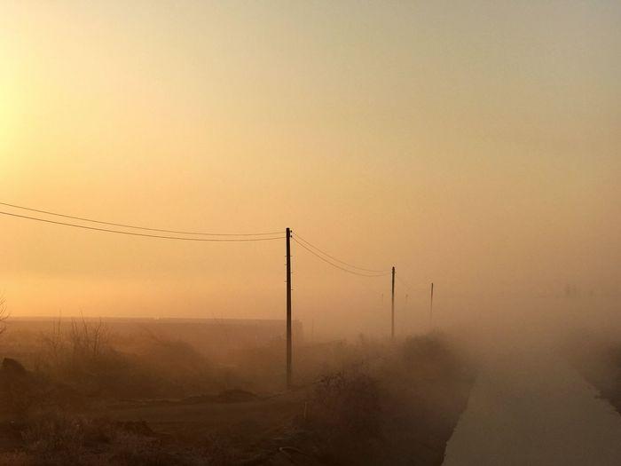 오늘아침 풍경, 왠지 차분해지는 느낌 좋다. 피아노 연주곡이 듣고싶어져^^ Sunset Landscape Nature Sky Beauty In Nature Leechangwon IPhoneography Iphonephotography
