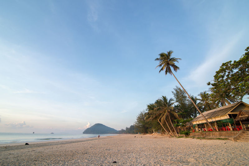 Tung Wua Lan beach privacy and peaceful Architecture Beach Beauty In Nature Blue Built Structure Cloud - Sky Horizon Over Water Land Nature No People Outdoors Plant Sand Scenics - Nature Sea Sky Tranquil Scene Tranquility Tree Tropical Climate Water