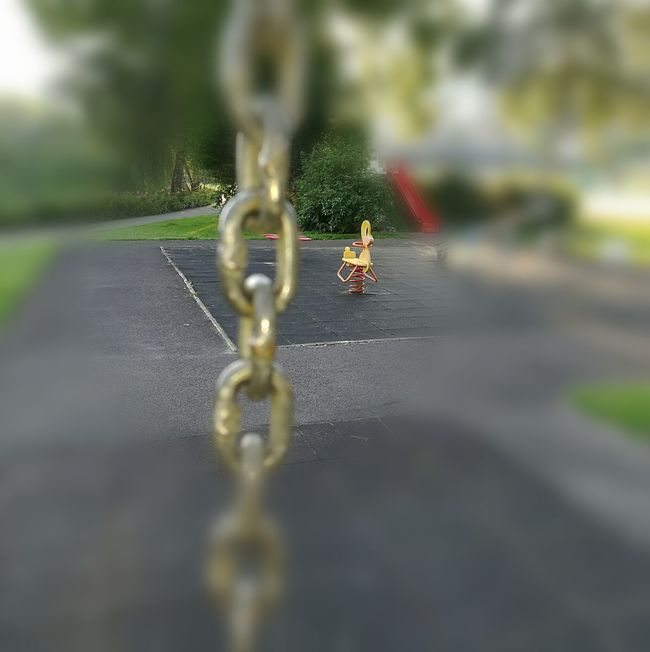Kette Schaukeln Kinderspielplatz Ruhe Vor Dem Sturm Vierwaldstättersee Küssnacht Am Rigi