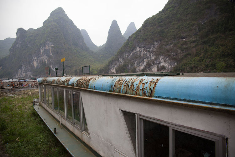 Old Abandoned Tour Boat