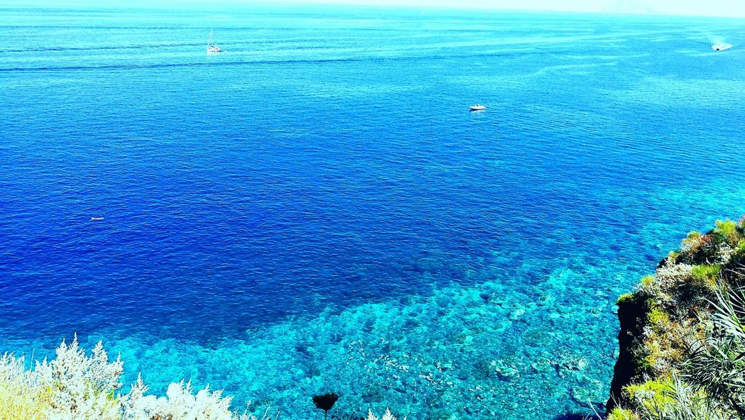 Blue Nature Day Beauty In Nature No People Water Sky Backgrounds Summer ☀ Salina Island Isoleeolie Sun Sea