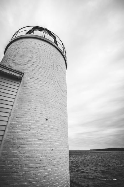 Acadianationalpark Black And White Built Structure Day Lighthouse Maine No People Outdoors Sky Storage Tank