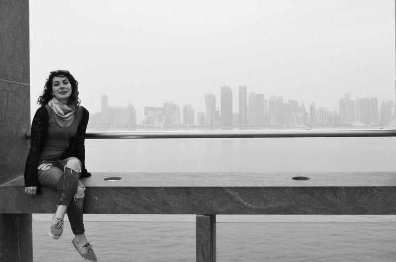 a girl in doha