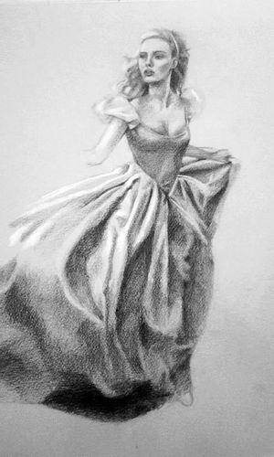 Scarlett Johansson Cinderella Painting Drawing