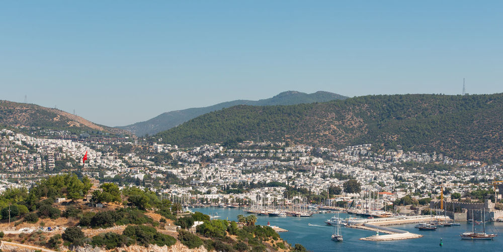 City of bodrum in turkey with its large marina