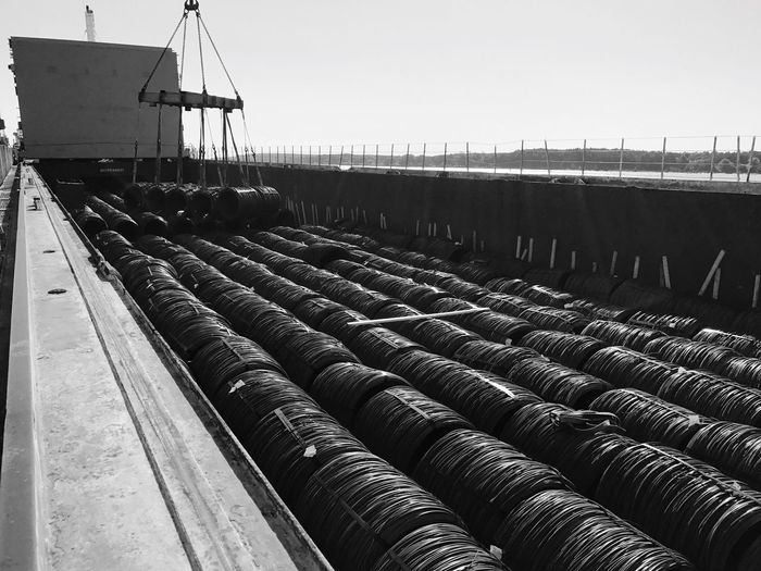 Wire Rod Vessel Handling Port Day No People Outdoors Transportation first eyeem photo