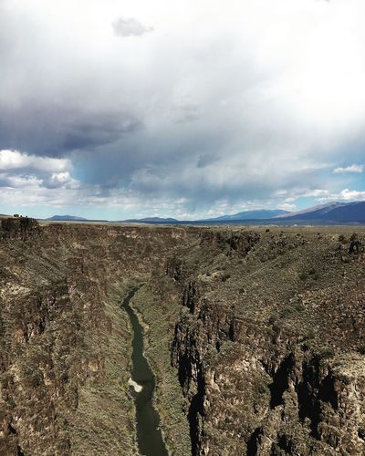 Taos, New Mexico Landscape Tranquility Scenics Cloud - Sky Horizon Over Land Nature Beauty In Nature Rain Clouds