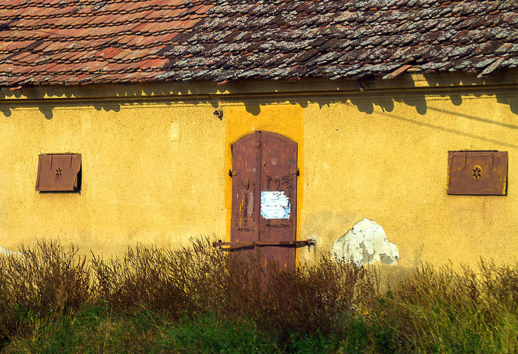 Old yellow house, probably storage Architecture No People Day Built Structure Building Exterior House Yellow Window Roof Old