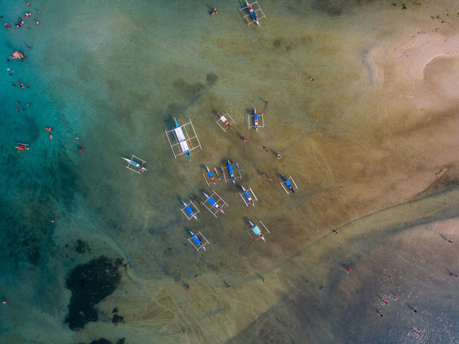 Aerial View Beauty In Nature Day EyeemPhilippines High Angle View Large Group Of Animals Nature Outdoors Real People Sand Sky Water