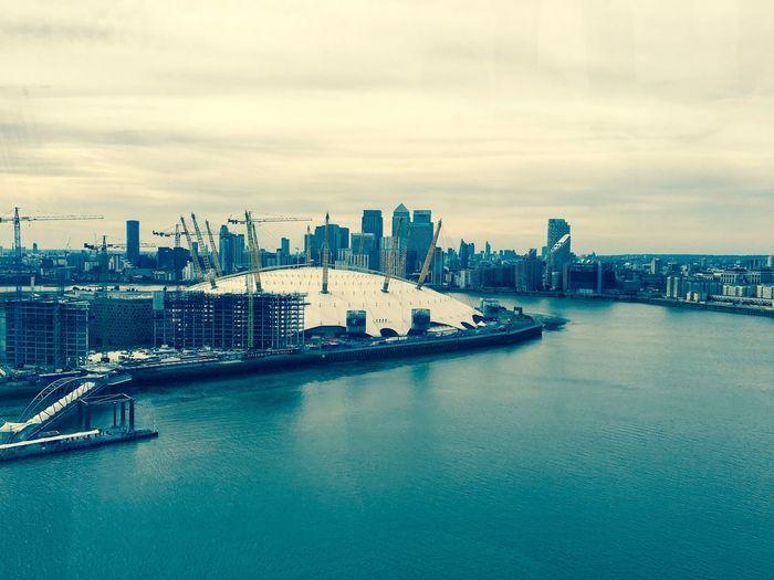 London River O2 Crane Buildings Landscape Landscape_Collection Cloud - Sky Outdoors Autumn