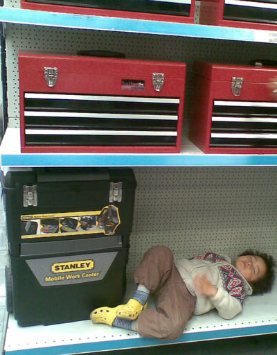 Can't get the staff! Child Sleeping Child Shoping