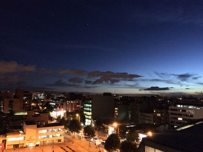 Bogotá City Lights Late Afternoon Welcome Night