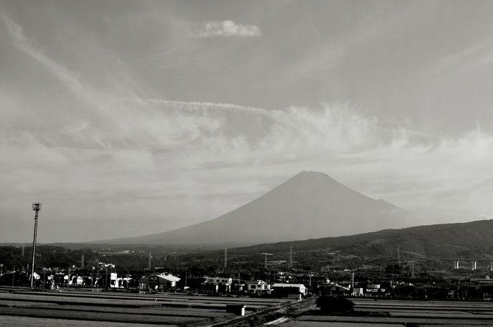 富士山 On The Road Mountain Mt. Fuji Japan From A Moving Vehicle
