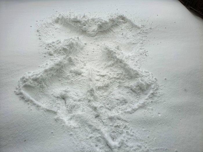 High angle view of sand on beach