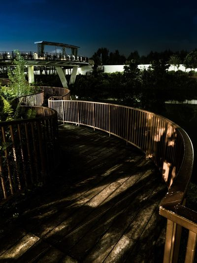 Bridge - Man Made Structure Night No People Outdoors Wooden