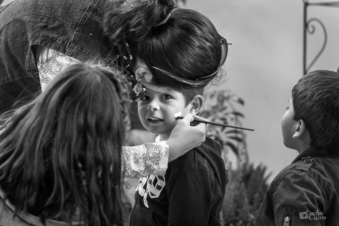 Face Painting Facepainting Blackandwhite