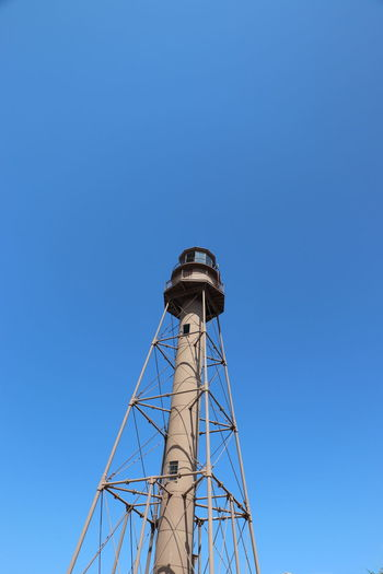 Sanibel Island Lighthouse Lifestyles Light House And Blue Sky Sky Beach Florida Tranquility Outdoors No People Day Old Vintage Sanibel Beach