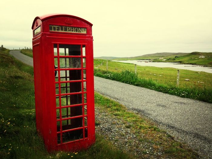 Red Phone Box In Shetland