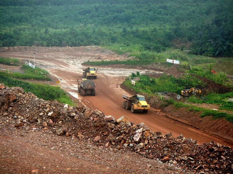 Dirt Exploring High Angle View Land Vehicle Leading Mining Mining Exploration Mining Pit Mode Of Transport Ore Ore Mine Outdoors Remote Road Transportation