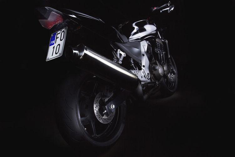 Kawasaki Z750  Long Exposure Motorcycle