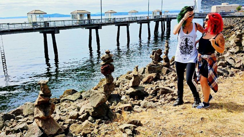 Seattle Hemp Fest Pnwlife Beach Stacking Rocks