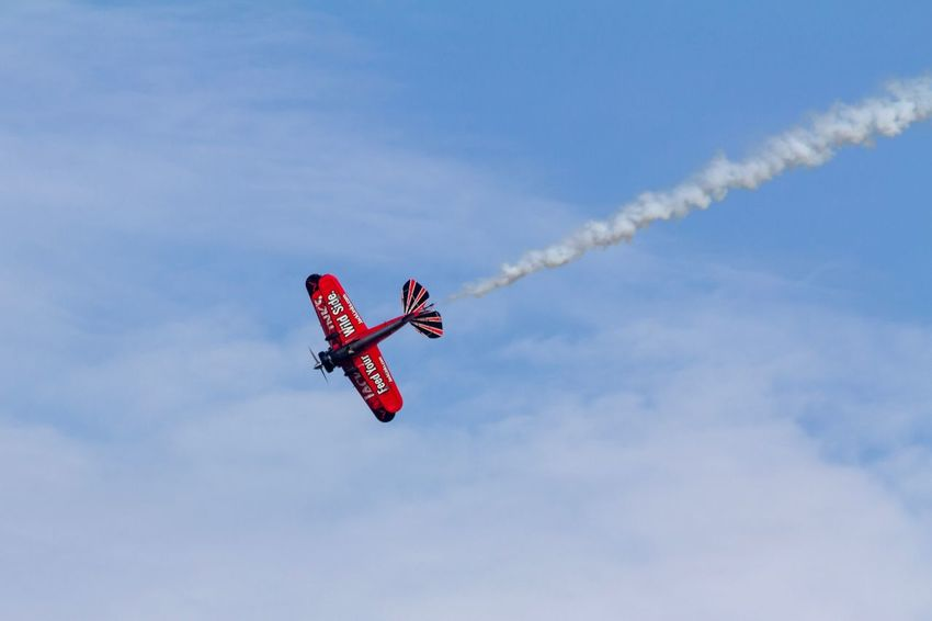 Wings Over Houston Airshow Canon EOS 60D Sky Low Angle View Red Nature Flying Cloud - Sky Day