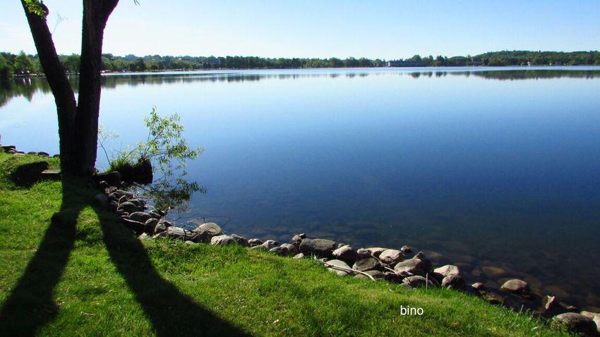 Morning Walk At My Favorite Lake Tranquil Scene Tree Shadows Beauty In Nature Lake Like Glass Lake Cadillac Pure Michigan