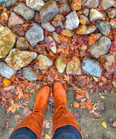 Leeeeeeeaves Fall Beauty Leaves🌿 Winter Boots View From Above Wintertime