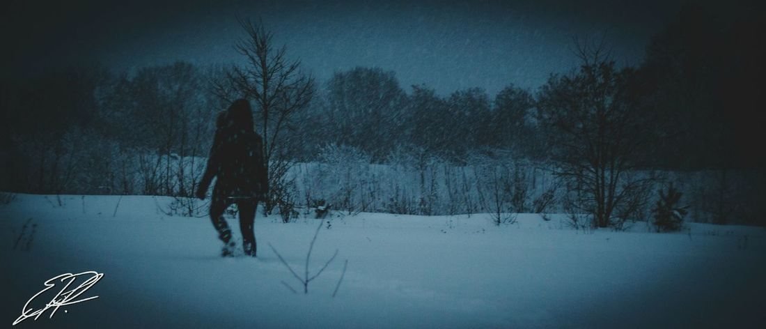 Nuclear Winter One Person Real People Cold Temperature Winter Snow Nature Outdoors Only Women Outside Look Oldlook Raw Lightroom Outdoor Photography Art Dark DSLR View Love Panorama Amazing Fun Atmosphere Country Life