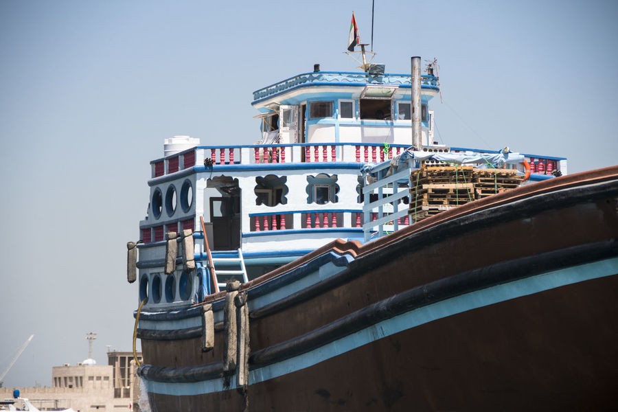 Dubai Transport Big Boat Boat Boats Dubaicity Export Marchandises Mode Of Transportation Nautical Vessel No People Traditional Transportation Water