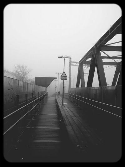 cesano maderno o silent hill? Fog Public Transportation Train Station