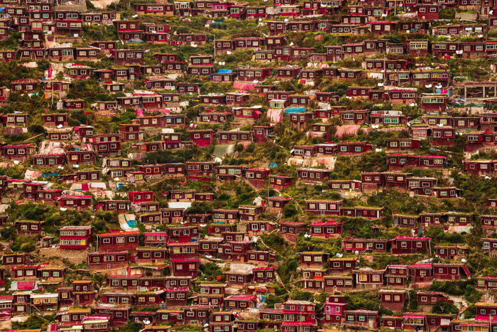 Red Seda Tibetan Buddhism Architecture City Cityscape Day No People Outdoors Red House