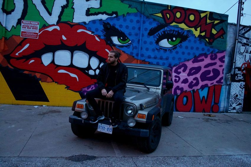 One Person Full Length Standing Outdoors People Real People Adults Only One Man Only Day Young Adult Streetphotography Jeep Graffiti Streetart