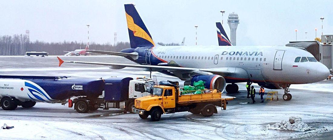 Airplane Airport Runway Airport Pulkovo Donavia Airbus Aviation
