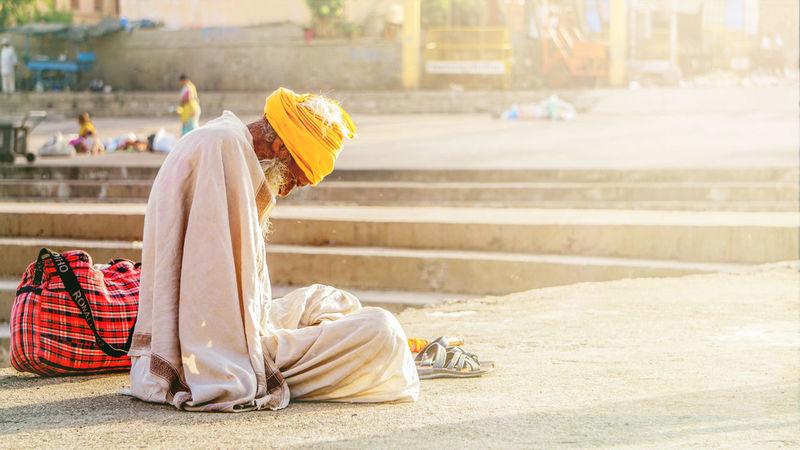 Blessings from sun god Indianstories Indian Culture  Real People Nashikdiaries EyeEm Best Shots EyeEm Gallery Sonyphotography India_clicks Lifestyles Traditional Costumes Outdoors One Person Adults Only Day People Adult