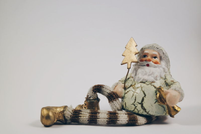 Studio Shot No People Santa Claus Christmas Decorations Christmas Time Gold Colored