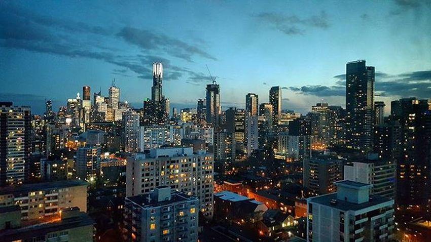 Sweet Sunset over Toronto Financialdistrict  Tdot  The6ix To  416 City Nightphotography TD Bmo RBC ScotiaBank KPMG Skyline Dusk Photooftheday Beautyisinthedetails