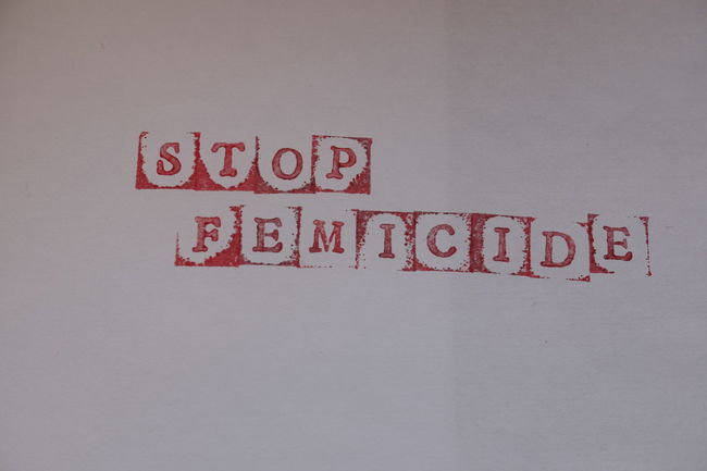 Alphabet Word Capital Letter Close-up Concept Day Femicide Indoors  No People Red Stamp Stop Text Warning Warning Sign Western Script White Background Written