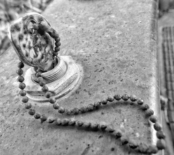 Key Rusty Rusty Key Weathered High Angle View Metal Surface Textures Rusty Surface Black And White Chain Key Chain Automobile Transportation Close-up Macro Photography Forgotten Things Outdoors Rusty Chain