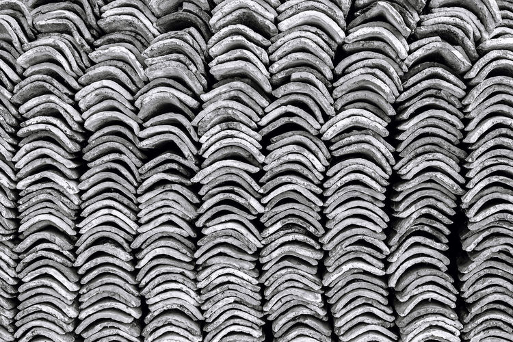 Old clay ceramic roofing tile stacked Black & White Monochrome Photograhy Black And White Black And White Photography Ceramic Roof Clay Monochromatic Monochrome Monochrome _ Collection Monochrome_life Roof Tile