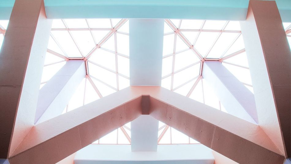 Geometry Structure Balance Pattern Geometry Geometric Shape Lifestyles Hongkong Photos HongKong Architecture Built Structure Low Angle View Day Indoors  Real People Modern
