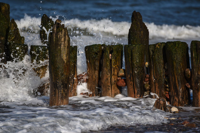 Baltic Sea Baltic Sea View Baltic Sea Winter Beauty In Nature Day Hoffi99 Motion Nature No People Outdoors Rock - Object Sea Water Waterfall