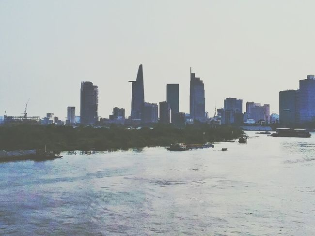 This is my city. My Saigon. My home. Citylife City Cityscape Hochiminhcity City View  River River View Peaceful Buildings Building And Sky Byme