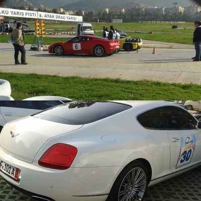 8 .ayak Drag Yar ışı Izmir Ülkü yarış pisti tam bir görsel şölen Bentley Lamborghini kapismasi