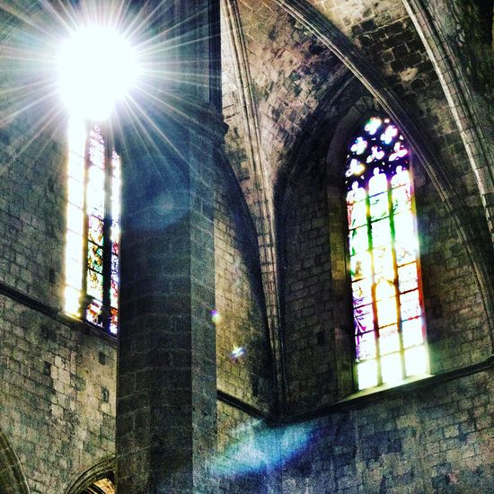 Architecture Window Religion Built Structure Lens Flare Sunlight Low Angle View