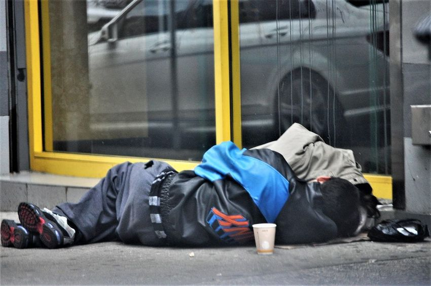 plight of the homeless City Men Window Jacket Building Exterior Architecture Built Structure Sleeping The Photojournalist - 2018 EyeEm Awards